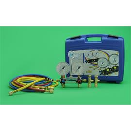 KIT CARGA GAS REFRIGERANTE MALETIN R22 R134A R404A R407C