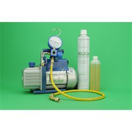 KIT CARGA GAS REFIRGERANTE  BOMBA VACIO + MANOMETRO 1 VIA R600 + MANGUERA + R600