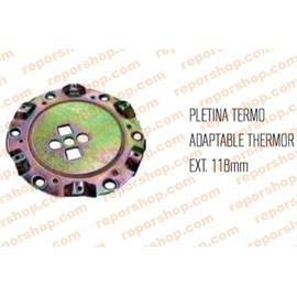PLETINA/BRIDA PORTAVAINAS 118mm FLECK/ARARICI/THERMOR/EDESA/NEGARRA