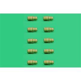 """10 REDUCCIONES ROSCADAS 3/4 X 5/8"""" SAE MACHO - MACHO TUBO COBRE AIRE"""""""